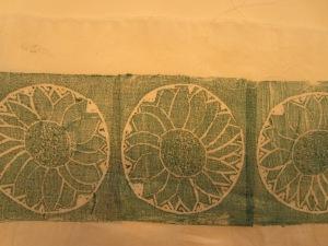Lino cut printing on various textiles